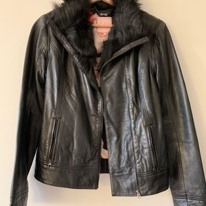 Ted Baker Leather and Shearling Jacket